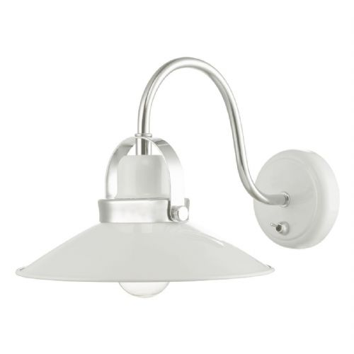 Liden 1 Light Wall Bracket White Polished Chrome (Double Insulated) BXLID072-17
